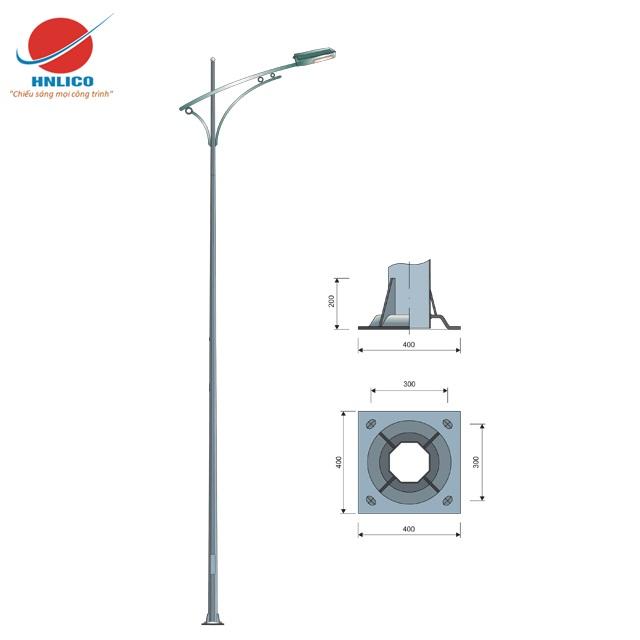 Cột đèn cao áp HN04-D