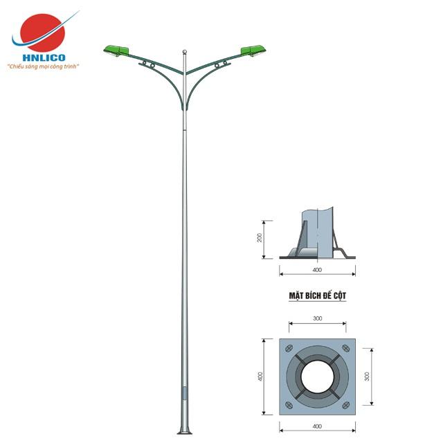 Cột đèn cao áp HN04-K