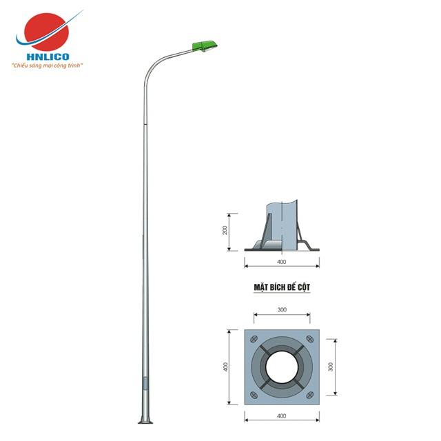 Cột đèn cao áp HN06-D