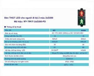 ĐÈN THGT LED ĐI BỘ 2xD200