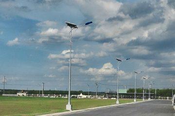 Sử dụng năng lượng mặt trời cho cột đèn cung cấp ánh sáng