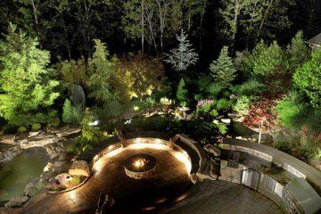 Cách bố trí đèn trang trí sân vườn