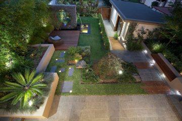Cách lắp đặt hệ thống chiếu sáng sân vườn