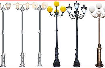 Các mẫu cột đèn trang trí sân vườn đẹp
