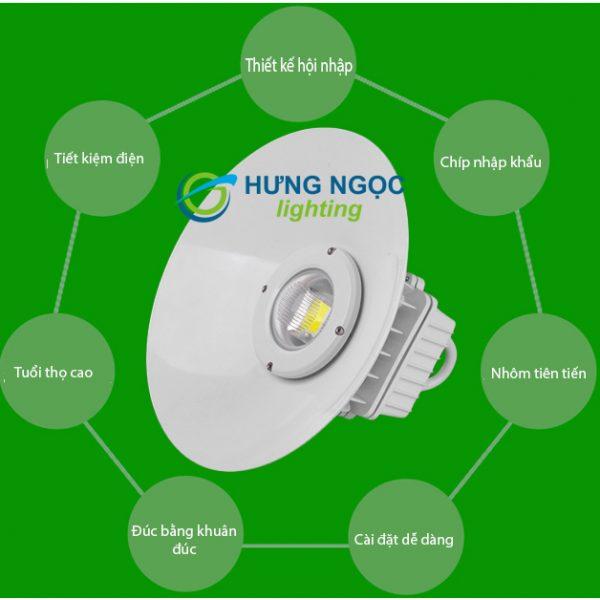 Đèn led nhà xưởng đơn giản HNLX-04 30-50W